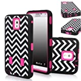 XYUN 3in1 Deluxe Printed Hard Soft High Impact Hybrid Armor Defender Case Combo For Samsung Galaxy Note 3 N9000 (Wave)