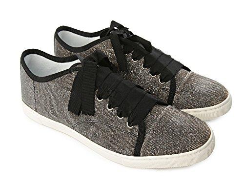 Sneakers Lanvin donna in tessuto tecnico argento - Codice modello: FWSKBSL1GALIP16 - Taglia: 40 IT