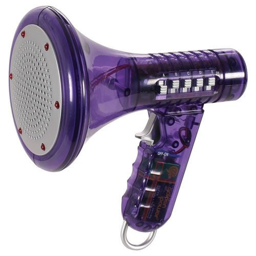 """Toysmith Products - Purple Multi Voice Changer By Toysmith: Change Your Voice With 10 Different Voice Modifiers - Kids Toy (Color Is Purple) - """"Translucent Purple"""" Multi Voice Changer Features Flashing Led Lights."""