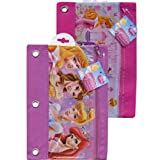 Disney Princess 3 Ring Pencil Pouch w/ Zipper for School Supplies