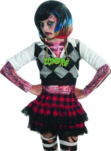 Rubie's Costume Zombie Colorful Streaks Costume Wig