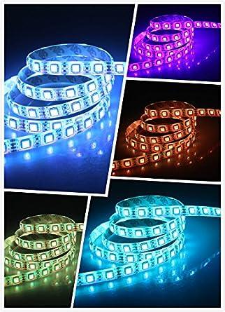 Dreamy Lighting 5m Wasserdicht RGB LED Strip Licht Streifen mit 300 ...