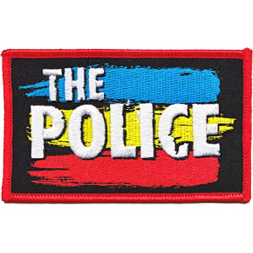 Application The Police Striped Logo Patch