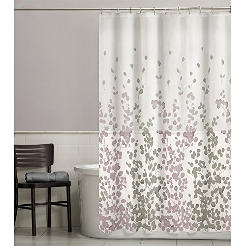 Maytex Sylvia Printed Faux Silk Fabric Shower Curtain