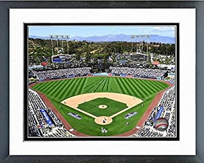 "Los Angeles Dodgers 2015 MLB Stadium Photo (Size: 12.5"" x 15.5"") Framed"