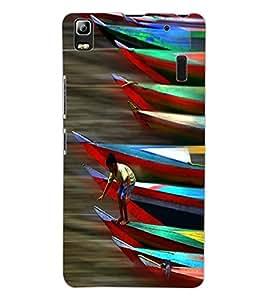 ColourCraft Racing Boats Design Back Case Cover for LENOVO K3 NOTE