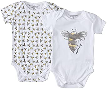Burt's Bees Baby Baby Boys' Watercolor Graphic Bodysuit Set (Baby) - Multi