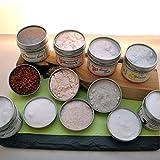 directfriendly-6-Kontinente-Salzbar-Geschenkset-mit-unterschiedlichen-Natursalzen-aus-aller-Welt-Tibetsalz-Rosensalz-Utah-Sweet-Salt-Meersalz-Rotes-Hawaii-Salz-Kalahari-Wstensalz
