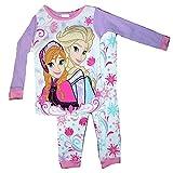 Disney Frozen 2 Piece Cotton Elsa & Anna Pants Pajama Set (4T)