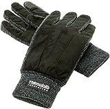 (マルカワジーンズパワージーンズバリュー) Marukawa JEANS POWER JEANS VALUE 手袋 メンズ グローブ スマホ対応 スマートフォン対応 フェイクスエード 裏フリース 高機能中綿素材 3color Free ブラック
