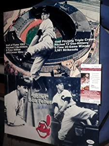 BOB FELLER Signed Limited Ed.16x20 Photo HOF JSA Indians Autographed Cleveland by Signed+Photo