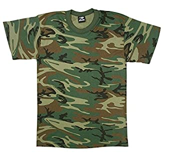 Kids Woodland Camouflage T-Shirt SIZE XL