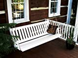 Traditional English 4ft. Porch Swing - Amish Made - 4 foot Painted White