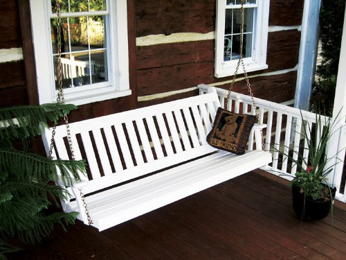 Outdoor 5 Foot Traditional English Porch Swing - Painted- Amish Made Usa -Coffee front-1006839