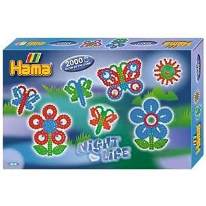 Hama - 3218 - Loisirs Créatifs  - Perles et Bijoux  - Boîte: Mon Jardin La Nuit
