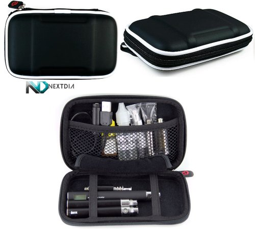 Anyvape Cvi Vv/Vw Carrying Travel Hard Case With Carabiner Style Hook For Your Keys By Kroo - Black Eva + Complimentary Nextdia ™ Velcro Cable Strap.