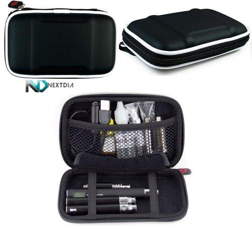 Joye Ego-C Carrying Travel Semi Hard Case With Carabiner Style Hook For Keys - Black Nylon + Complimentary Nextdia ™ Velcro Cable Strap.