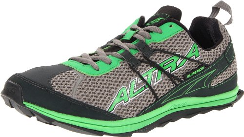 Altra Altra Men's Superior Trail Running Shoe,Black/Green,12 M US