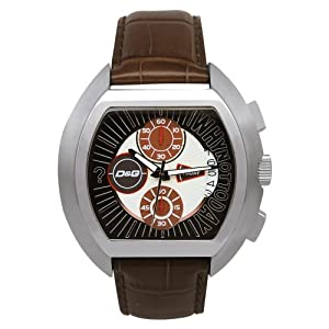 "D&G DW0213 Gents ''High Security"" Brown Strap Chronograph Watch"