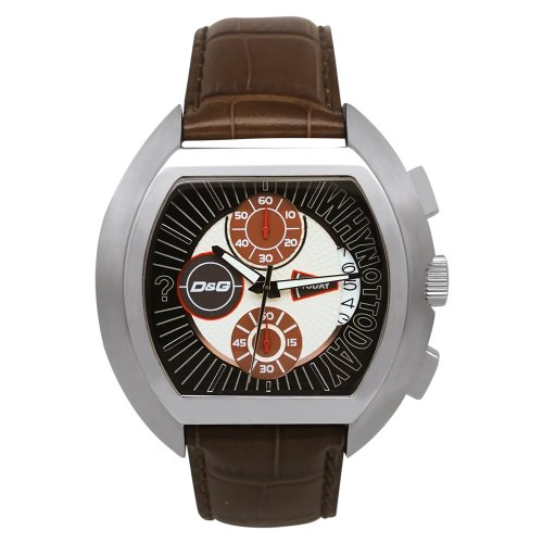 """D&G DW0213 Gents ''High Security"""" Brown Strap Chronograph Watch"""