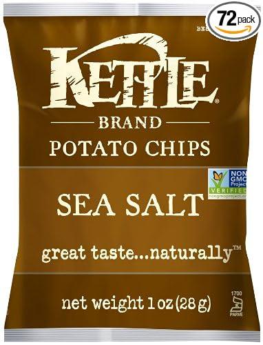 72-Pk.Kettle Chips Sea Salt, 1-Ounce