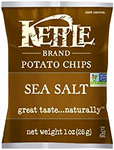 Kettle Chips Sea Salt, 1-Ounce (Pack of 72)