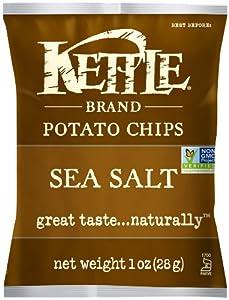 Kettle Chips Sea Salt, 1-Ounce (Pack of 72)