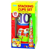 Megcos Stacking Cups Set, Multi Color