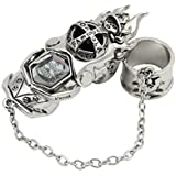 Hitman Reborn Katekyo Metal Finger Rotating Armor Vongola Cosplay Ring