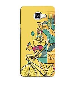 Citydreamz Bicycle Abstract Design Hard Polycarbonate Designer Back Case Cover For Samsung Galaxy A7 2016 Edition/Samsung Galaxy A710