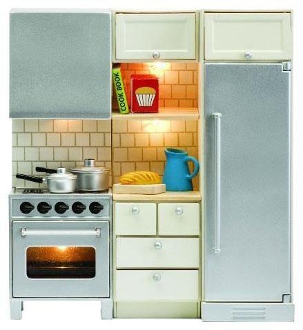 Lundby Smaland Dollhouse Stove + Fridge Set (Doll House Kitchen Appliances compare prices)