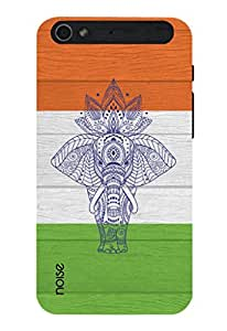 Noise Elephant On Indian Flag Printed Cover for InFocus M560