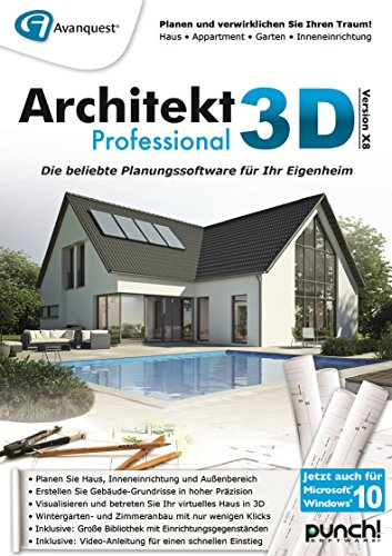 architekt 3d x8 professional pc download. Black Bedroom Furniture Sets. Home Design Ideas