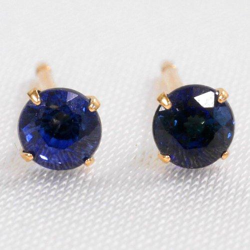 nadi K18 サファイア 0.2ct スタッド ピアス ゴールド 18K Gold 0.2ct Blue Sapphire stud earrings 【4本爪タイプ】
