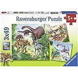 Ravensburger 09304 - Faszinierende Dinosaurier - 3 x 49 Teile Puzzle