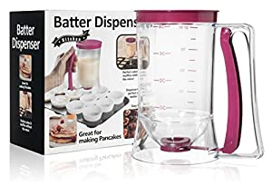 Pancake Batter Dispenser - KPKitchen Home Kitchen Gadgets for the Perfect Waffle, Muffin, Cupcakes or Any Baked Goods