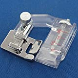 Kalevel Portable Snap-on Bias Binder Tape Binding Foot Presser Foot for Brother, Singer, New Home, Janome, Toyota, E&r Domestic Sewing Machines