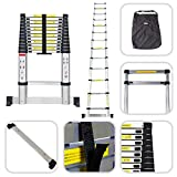 Sotech - Telescopic ladder 3.80m   Stabilizer bar - Carry Bag offered - Made of aluminium - EN 131 standards - 13 rungs
