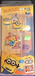 NAISHA MINIONS (MORE MINIONS.MORE DESPICABLE) In-Ear Earphone, Hands Free Includes 3 Additional Earplug Covers - Great For Kids, Boys, Girls, Adults, Gifts Stereo Dynamic Wired Headphones, (Assorted color n Design), PACK OF 1