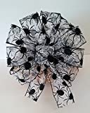 Spooky Spider Halloween Wreath Bow ~ Harvest Centerpiece ~ Spooktacular Halloween Party Decorations ~Halloween Wedding Pew Bow ~ Gothic Party Decor ~ Harvest Wreath