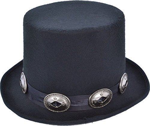 Adult Men's 1980's Top Fancy Dress Party Slash Rocker Style Hat With Buckles