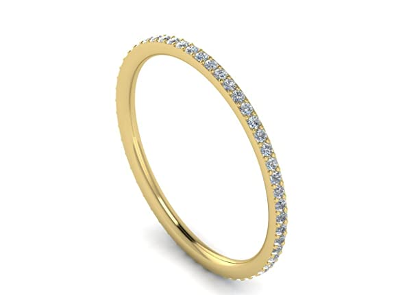 0.25ct Round Brilliant Cut Diamonds Full Eternity Wedding Ring in 9k Yellow Gold