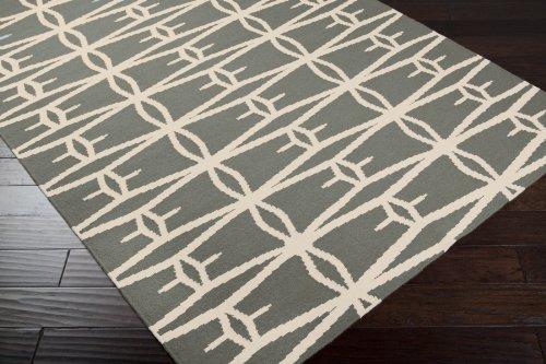 Jill Rosenwald by Surya Fallon FAL-1027 Flatweave Hand Woven 100% Wool Iron Ore 2'6