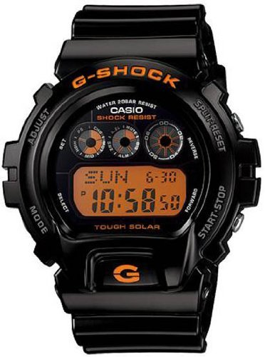 Casio G Shock Quartz Black/Orange Dial Black Band – Men's Watch GW6900B-1