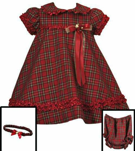 Nostalgic New Christmas Plaid Dress ~ 3M to 9M ~ Babys First Christmas