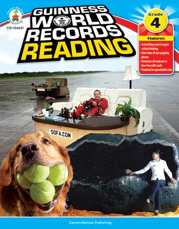 Carson-Dellosa 104421 Guiness World Record Reading, Grade 4, 128 pages