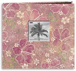 "New - Tropical Postbound Album With Photo Window 12""X12 by Pioneer"