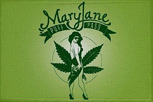 U24toppa bandiera motivo: Cannabis Marijuana n. 5, da 9x 6cm