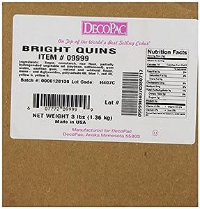 DecoPac Quins, Bright Sequins, 3 Pound