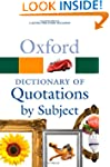 Oxford Dictionary of Quotations by Su...